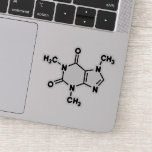 "Caffeine Molecule Sticker<br><div class=""desc"">Get this caffeine molecule sticker for your laptop,  phone,  thermos,  notebook,  or anywhere else you need to remind yourself to recaffeinate!</div>"