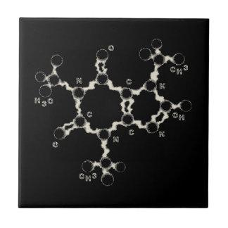 Caffeine Molecule Tile