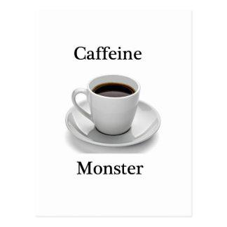 Caffeine monster postcard