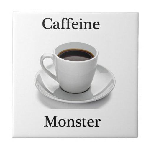 Caffeine monster ceramic tiles