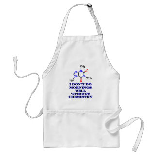Caffeine Morning Blue The MUSEUM Zazzle Gifts Adult Apron