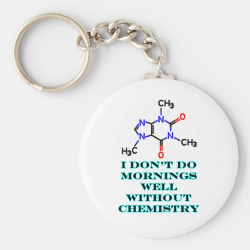 Caffeine Morning Cyan The MUSEUM Zazzle Gifts Keychains