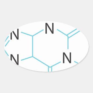 Caffeine Oval Sticker