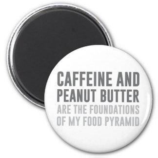 Caffeine & Peanut Butter 2 Inch Round Magnet