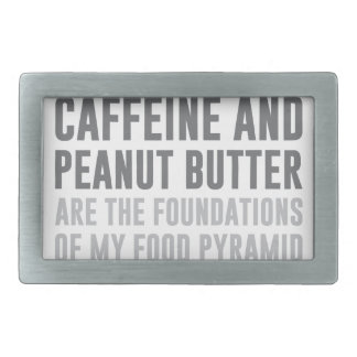 Caffeine & Peanut Butter Rectangular Belt Buckle