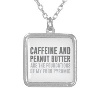 Caffeine & Peanut Butter Silver Plated Necklace