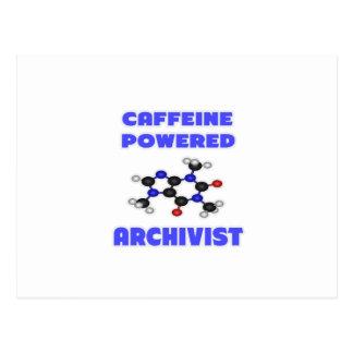 Caffeine Powered Archivist Postcard