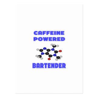 Caffeine Powered Bartender Postcard