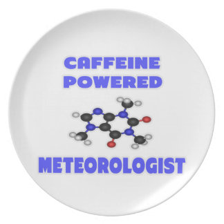 Caffeine Powered Meteorologist Party Plate