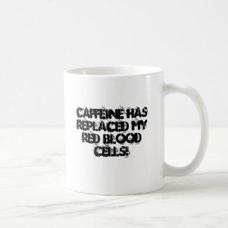 Caffeine Runs through my veins Coffee Mugs