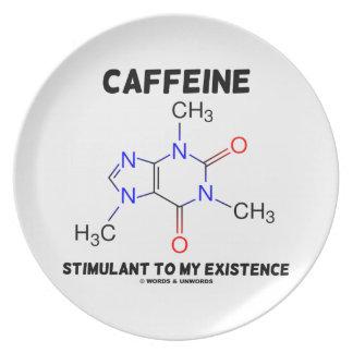 Caffeine Stimulant To My Existence (Molecule) Melamine Plate