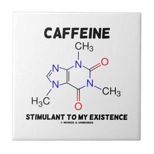 Caffeine Stimulant To My Existence (Molecule) Ceramic Tiles