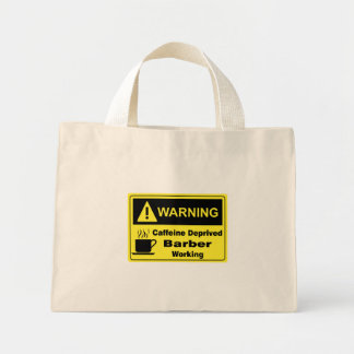 Caffeine Warning Barber Tote Bags