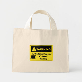 Caffeine Warning Chef Tote Bags