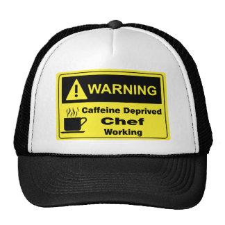 Caffeine Warning Chef Trucker Hat