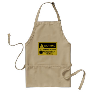 Caffeine Warning Engineer Adult Apron