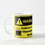 Caffeine Warning Housekeeper Mugs