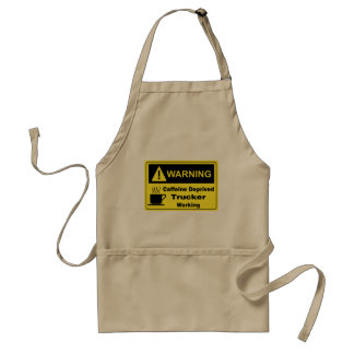 Caffeine Warning Trucker Adult Apron