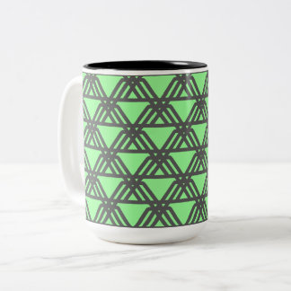 Caffeine Ziggurat Leapfrog Two-Tone Coffee Mug