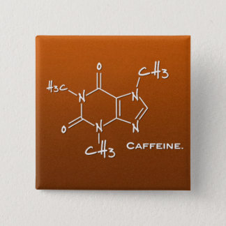 Caffiene molecule (chemical structure) button