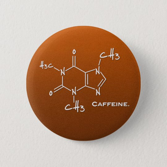 Caffiene molecule (chemical structure) button