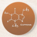 Caffiene molecule (chemical structure) beverage coasters