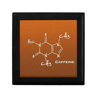 Caffiene molecule (chemical structure) gift box