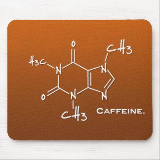 Caffiene molecule (chemical structure) mouse pad