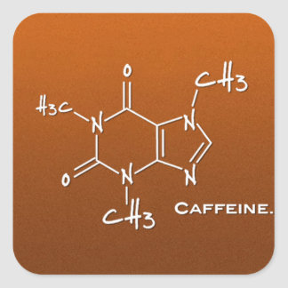 Caffiene molecule (chemical structure) sticker