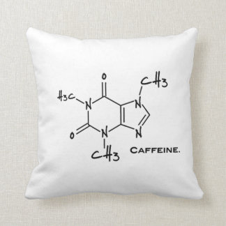 Caffiene molecule (chemical structure) throw pillow