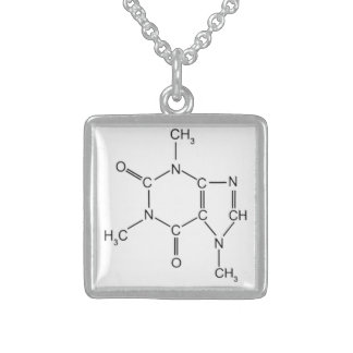 Caffinate Me Baby!!! Sterling Silver Necklace