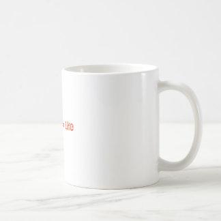 Caffine = Life Classic White Coffee Mug