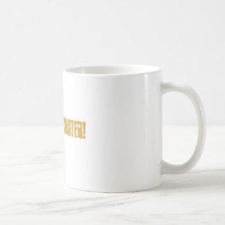 CAFFINE MONSTER! CLASSIC WHITE COFFEE MUG