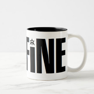 CAFFiNE TEXT LOGO Two-Tone Coffee Mug