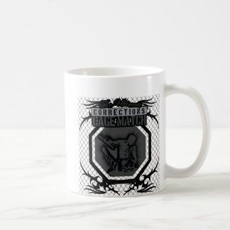 cage back, cage front classic white coffee mug