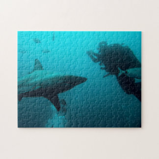 Cage Diving With Blacktip Sharks Jigsaw Puzzles