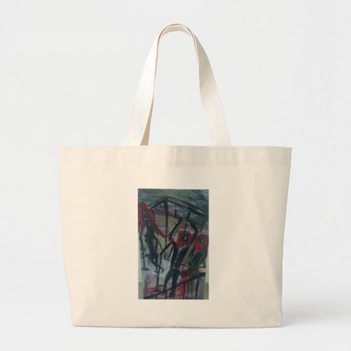 caged band canvas bags