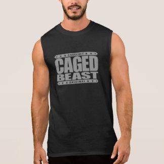 CAGED BEAST - Warning: 98% Wild Untamed Chimp DNA Sleeveless Tee