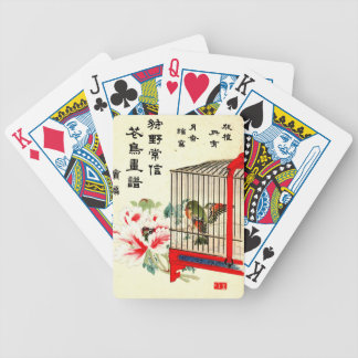 Caged Bird and Blossom 1870 Bicycle Playing Cards