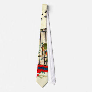 Caged Bird and Blossom 1870 Tie