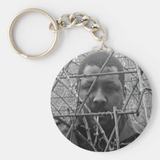 Caged Emotion Basic Round Button Keychain