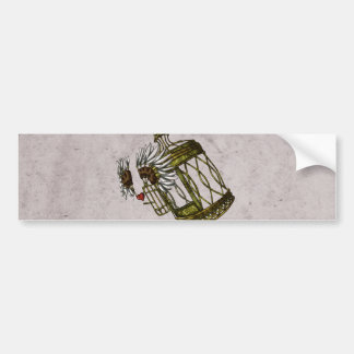 Caged Heart Bumper Stickers