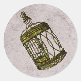 Caged Heart Classic Round Sticker