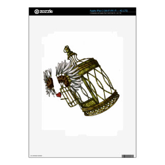 Caged Heart Decal For iPad 3