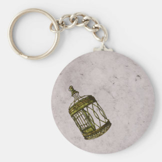 Caged Heart Keychain