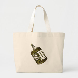 Caged Heart Large Tote Bag
