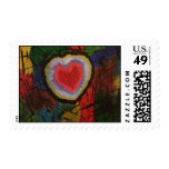 caged heart postage stamps