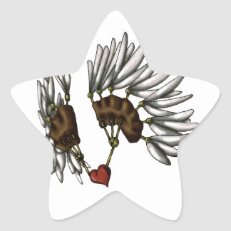 Caged Heart Star Stickers