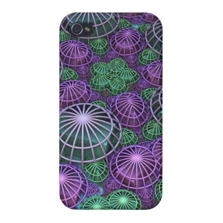 Caged in a Sphere, 3-d abstract iPhone 4 Case