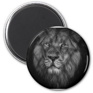 Caged king 2 inch round magnet